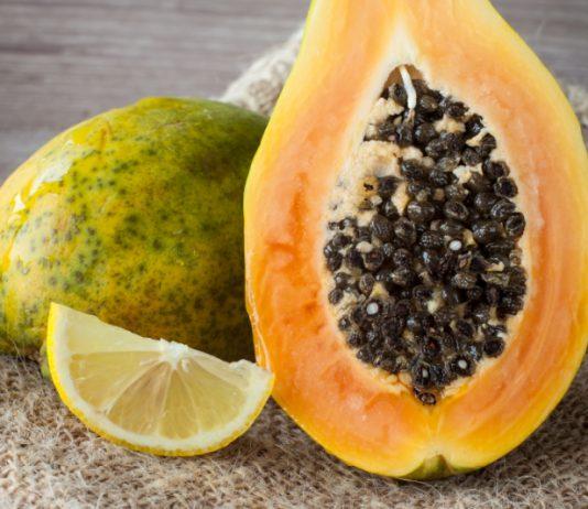 rozjaśniająca skórę maseczka z papai