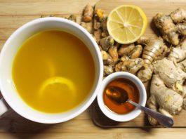herbata z czystka i imbiru